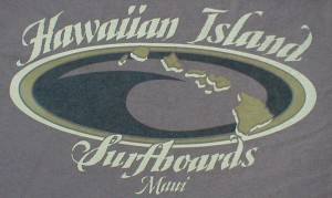 Kurt's Kuston Promotions Hawaiian Island Surf Boards Graphic