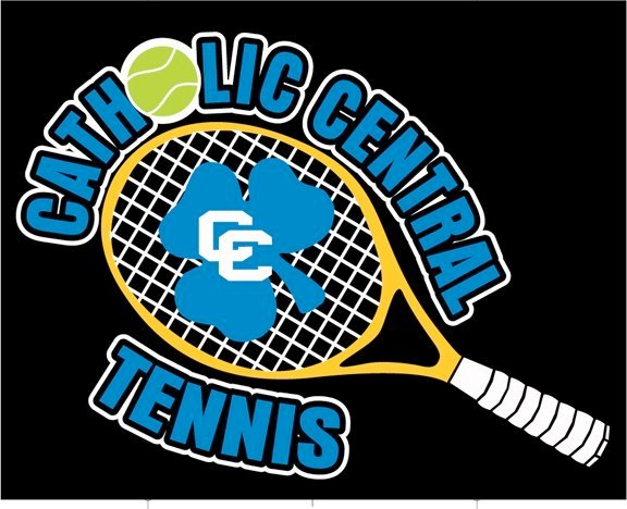 Catholic Central High School Tennis Logo