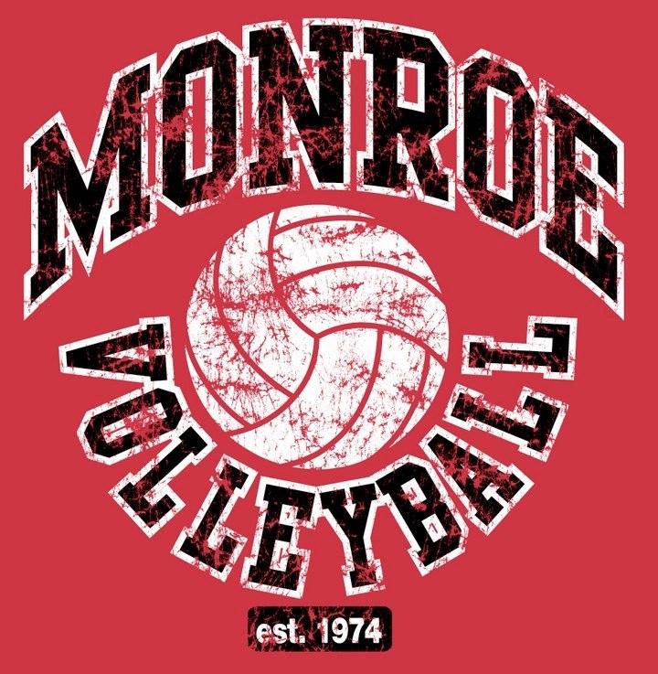 Monroe High School Volleyball Logo