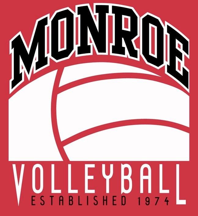 Monroe Volleyball Logo
